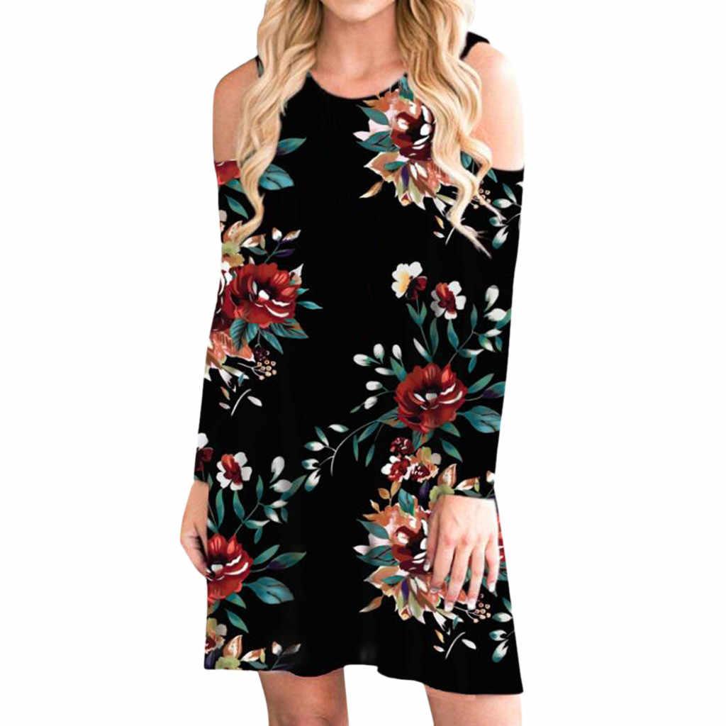 Женское Повседневное платье с цветочным принтом и пуговицами, Boho, с открытыми плечами, с карманами, Vadim, женская сексуальная шея, платье со змеиным узором