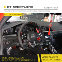 DT SPORTLINE Carbon Fibre Racing Steering Wheel For VW Golf 7 GTI/GTS/SCIROCCOR R Replacement Parts Accessories