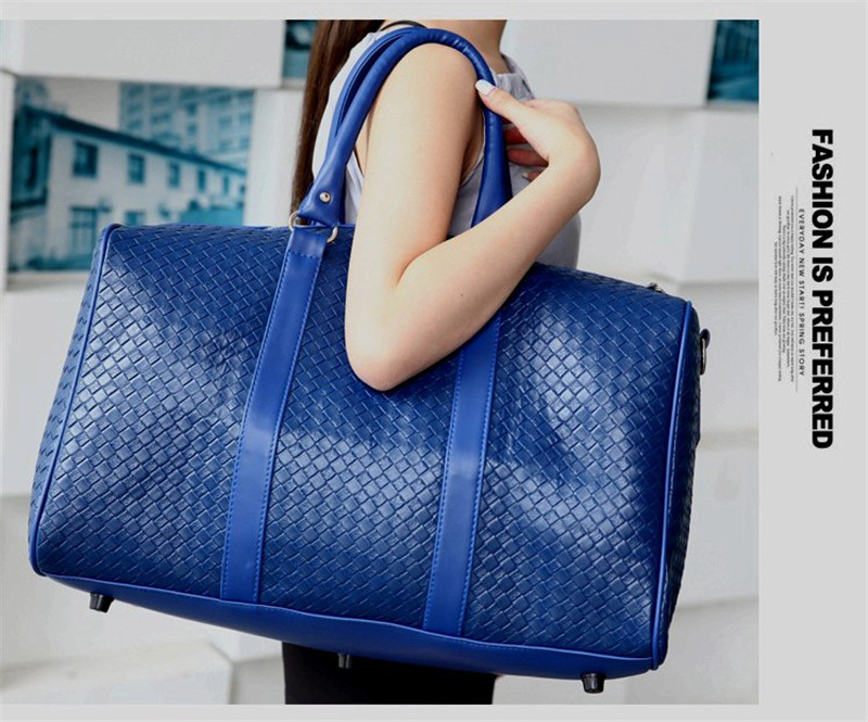New Fashion Luggage   Travel Bags Faux-Leather Men s Travel Bag Men Large Duffle  Bags Women s Weekend Bag Big Tote Free Shipping b34c31ad11