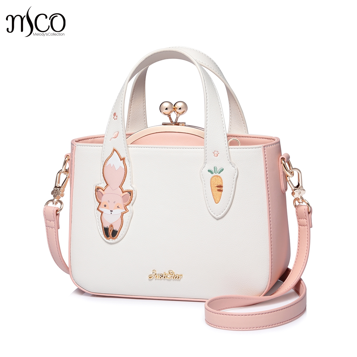 Just star Women's Leather Handbags Ladies Cartoon Squirrel Embroidery Composite Shoulder Tote Purse Female Messenger bolsas Bags джемпер женский love republic цвет светло розовый 8151182832 92 размер 42