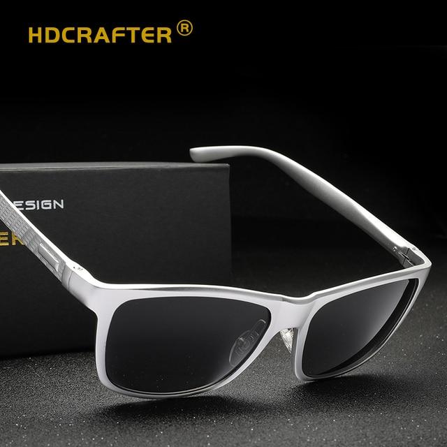 1590b031c4b HDCRAFTER Square Sunglasses Men Polarized Aluminium Vintage Eyeglasses Man  Brand Designer Shades 2018 Lunette Soleil Homme UV400