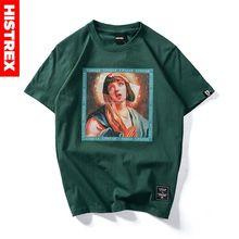 Quentin Tarantino Movie Men T Shirt 100 Cotton Thick Virgin Mary Streetwear Harajuku Funny T shirts Male Clothes Tee Women Mens