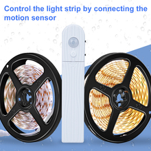 CanLing Led Strip Light Motion Sensor Led Night Light PIR Waterproof Kitchen Closet Cabinet Lamp Tape Tira Led Wardrobe Lighting недорого