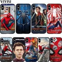 Marvel Avengers Spider-Man Superhero Coque For iPhone xr case iPhone 7 Case X XS MAX 8 6 6S Plus 5 5s SE Etui Funda Cover spider man into the spider verse for funda iphone xs max case cover for case iphone 6s plus 5 5s se 6 7 8 plus xr x cases cover