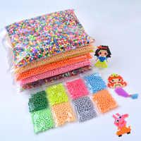 1000 unids/set 24 colores 5mm agua Spray Aq Perlen Magic Beads educativo rompecabezas 3D accesorios Kit para niños Juguetes