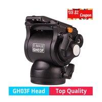 E IMAGE GH03F 5KG bear camera video photo hydraulichead fluid head Panoramic for tripod monopod DSLR Camcorder shooting