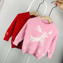 christmas sweater  boy girl baby knit kids sweaters boys girls