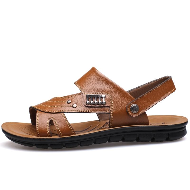 MUHUISEN Muška 100% Genuine Leather Sandale Novi Famous Brand Casual - Muške cipele - Foto 4