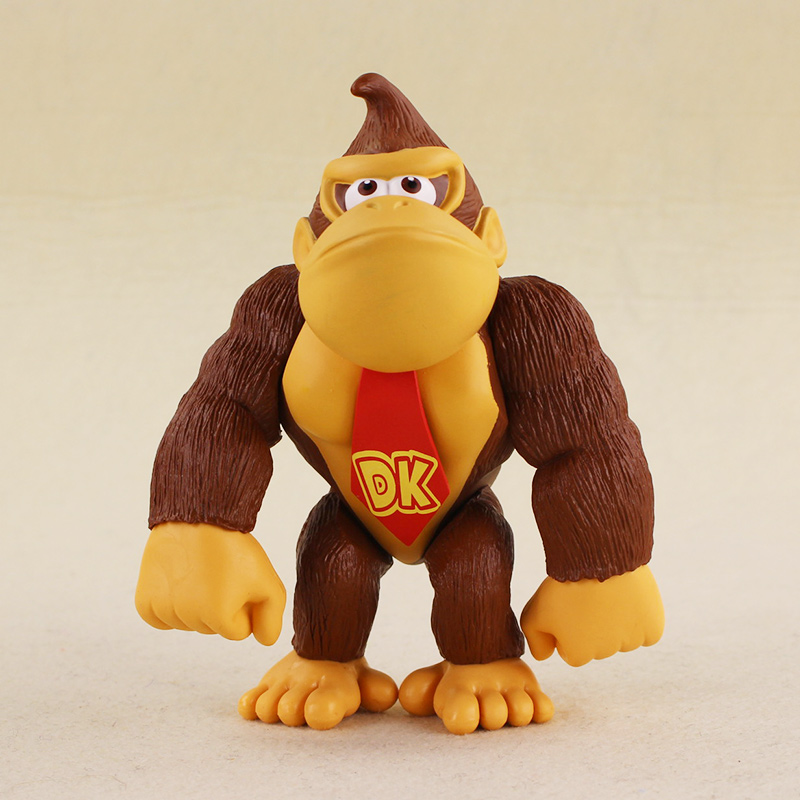 14cm Cosplay DONKEY KONG Super Mario Bros PVC Action Figure Doll Toys for kids birthday gifts free shipping super mario bros bowser pvc action figure collection model toy doll 3 5 9cm new in retail box smfg216