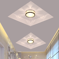 Modern energy saving led ceiling light Foyer Aisle Lamps home lighting Crystal LED lights indoor lighting