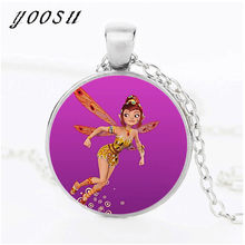 2018 Fashion Mia And My Glass Necklace Hot Time Gem Pendant Ornaments Necklace Gifts Women(China)