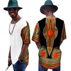 Рубашка в африканском стиле, платья для одежды, топ, модные мужские Дашики, 2019 Новая мужская футболка, 100% хлопок, футболка