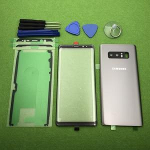 Image 4 - 삼성 Galaxy Note 8 N950 N950F 기존 전면 스크린 유리 렌즈 Note8 후면 배터리 커버 도어 후면 하우징 + 스티커 도구