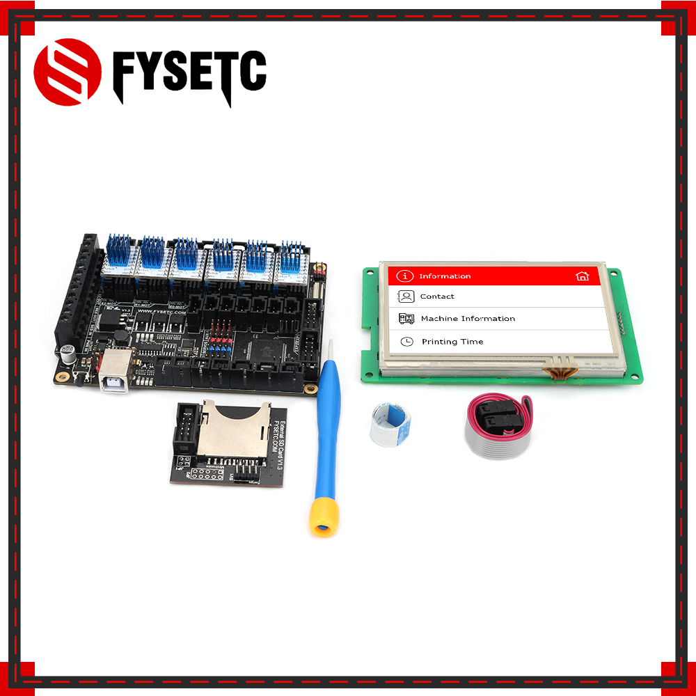 FYSETC F6 V1.3 ALL-in-one Scheda Madre + 4.3