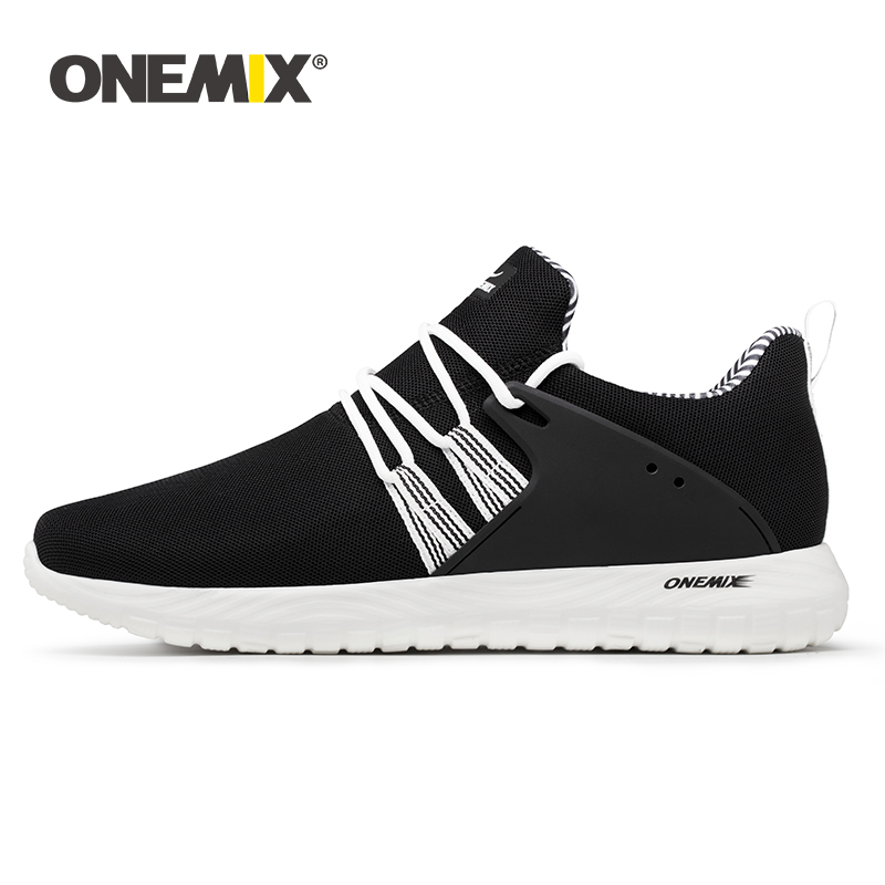 ONEMIX Big Size Sneakers Men Casual Shoes 2019 New Lightweight Breathable Flat Sports Footwear Outdoor Men Running Jogging Shoes