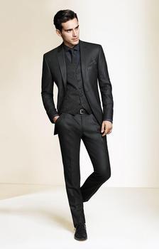 Custom Made Slim Fits Groom Tuxedos Groomsman Men's Wedding Prom Suits  (Jacket+Pants+Vest+Tie) H:025
