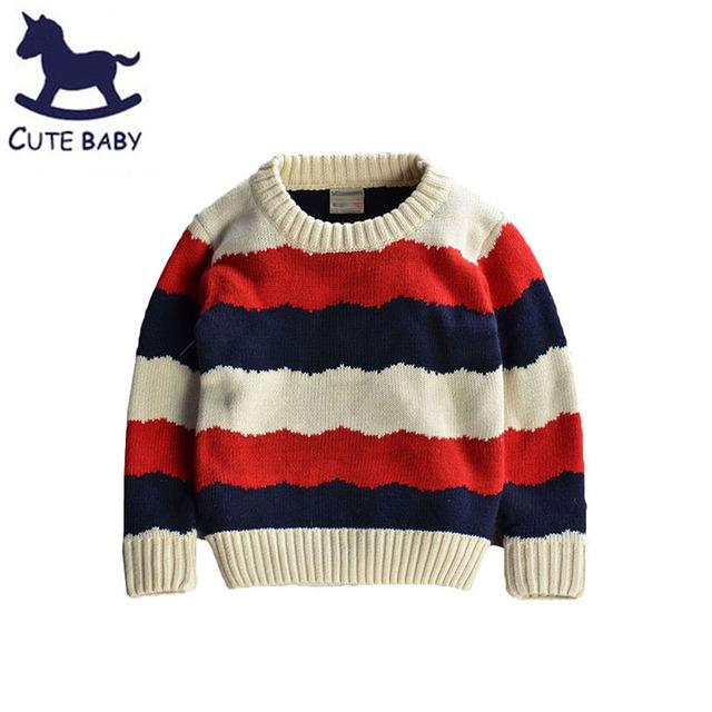 Meninos sweaters Crianças camisola das Crianças meninos roupas de inverno Pullover para meninos Roupas de bebê Roupas Listradas para 2-3-4-5yrs