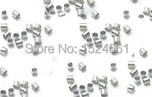 2MM 1000Pcs Crimp End Beads Jewelry Findings Connector Components Jewelry Accessories *bead caps toggle clasp brooch findings