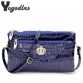 Fashion women crossbody shoulder bags crown messenger handbag crossbody double zipper bag