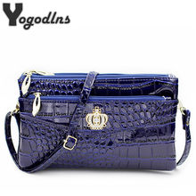 Mode vrouwen crossbody schoudertassen crown messenger handtas crossbody dubbele rits tas(China)