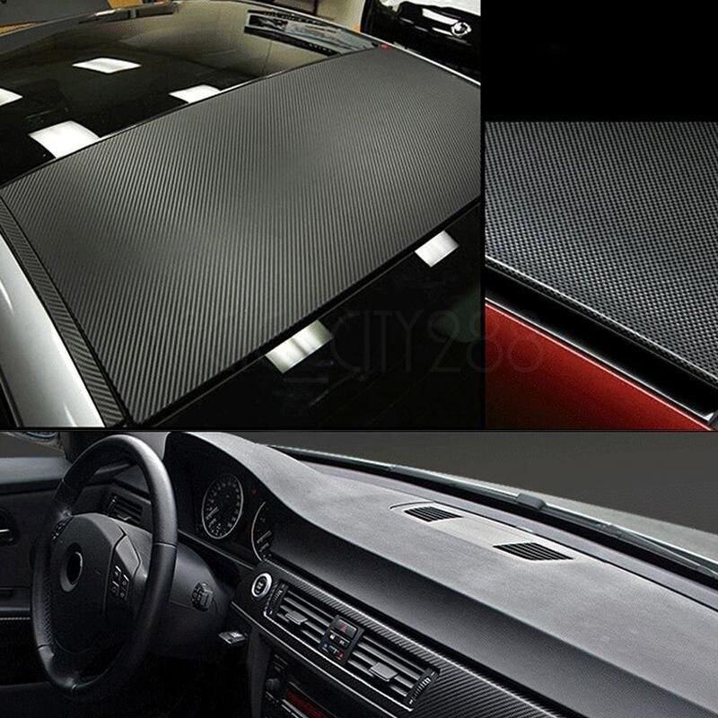 Image 4 - 자동차 랩 시트 롤 필름 스티커 자동차 인테리어 장식 127x30cm 3d 블랙 탄소 섬유 비닐 데칼 인테리어 자동차 스티커 새로운차량용 스티커   -