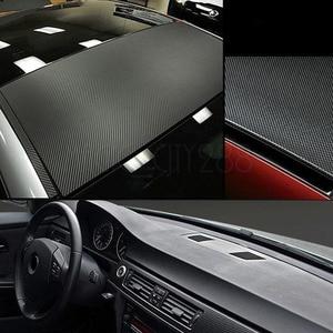Image 4 - Filme adesivo em vinil para decoração de interior, papel de decoração 127x30cm 3d em fibra de carbono adesivo do carro novo