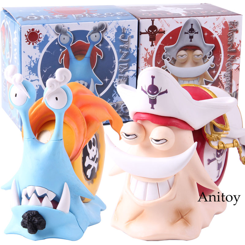 Anime One Piece Edward Newgate Jinbe Den Den Mushi Phone PVC One Piece White Beard Jinbe Action Figure Collectible Model Toy