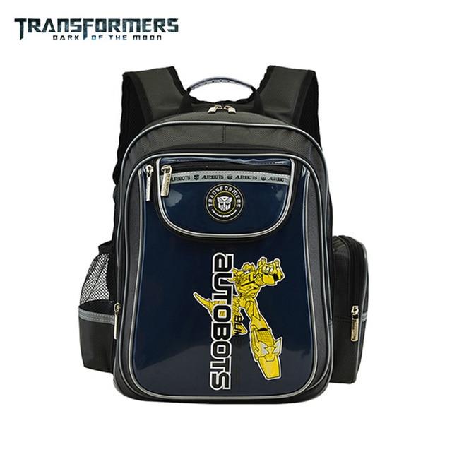 397bff2a65ca Transformers children kids cartoon orthopedic elementary primary school bag  books shoulder backpack portfolio for boys grade 1-3