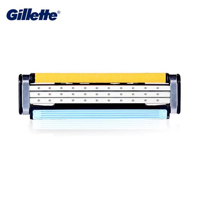Cuchillas de afeitar Gillette Vector 3 cuchillas de afeitar de seguridad marca de maquinilla de afeitar recta de tres capas afeitadora cuchillas de afeitar 6 piezas