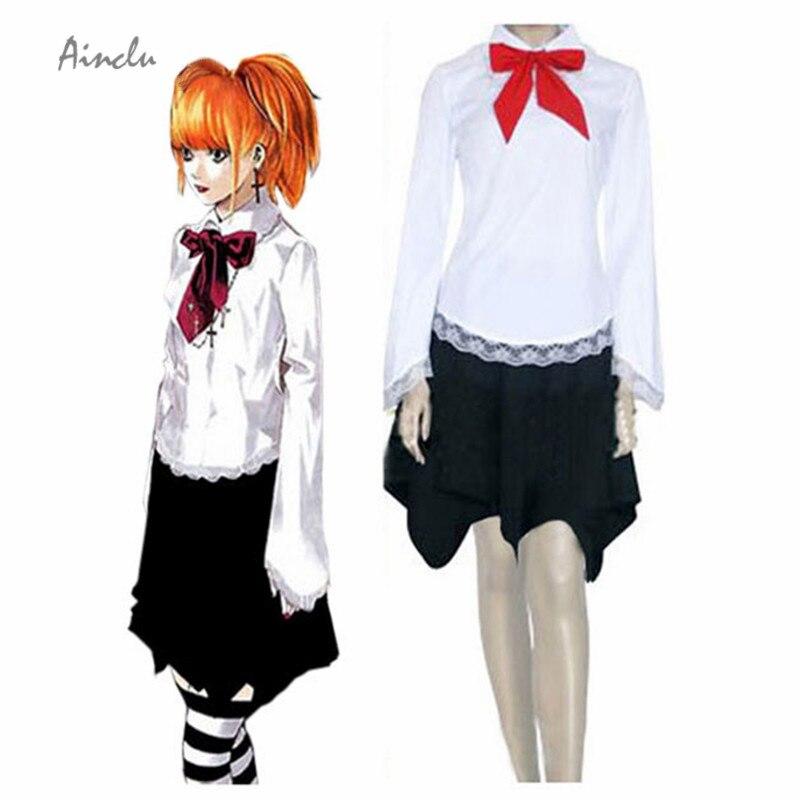 Ainclu Лидер продаж, костюм для взрослых, сноска смерти, Misa Amane, юбка, костюм для косплея на Хэллоуин, костюм для маскарада Misa, бесплатная доставка