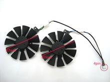 Kostenloser Versand 87 MM T129215SU Lüfter Für ASUS Strix GTX 980 Ti GTX 1050 1060 1080 1070 RX 480 470 Grafikkarte Kühler Fans