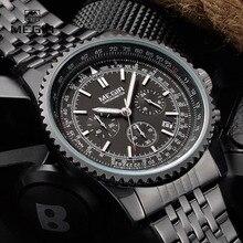 MEGIR موضة جديدة ساعة كوارتز رجل الأعمال ساعة اليد للذكور مضيئة التناظرية الساعات الرجال كرونوغراف التقويم ساعة ساعة hot