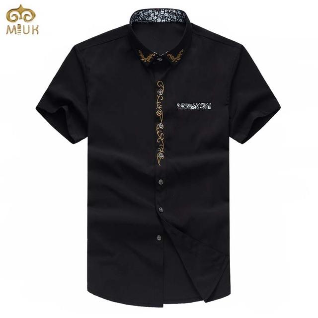 Super Grande Tamanho de Impressão Chemise Homme 7XL 6XL 5XL 4 Cores branco preto de manga curta camisa masculina marca clothing camisas dos homens 2017