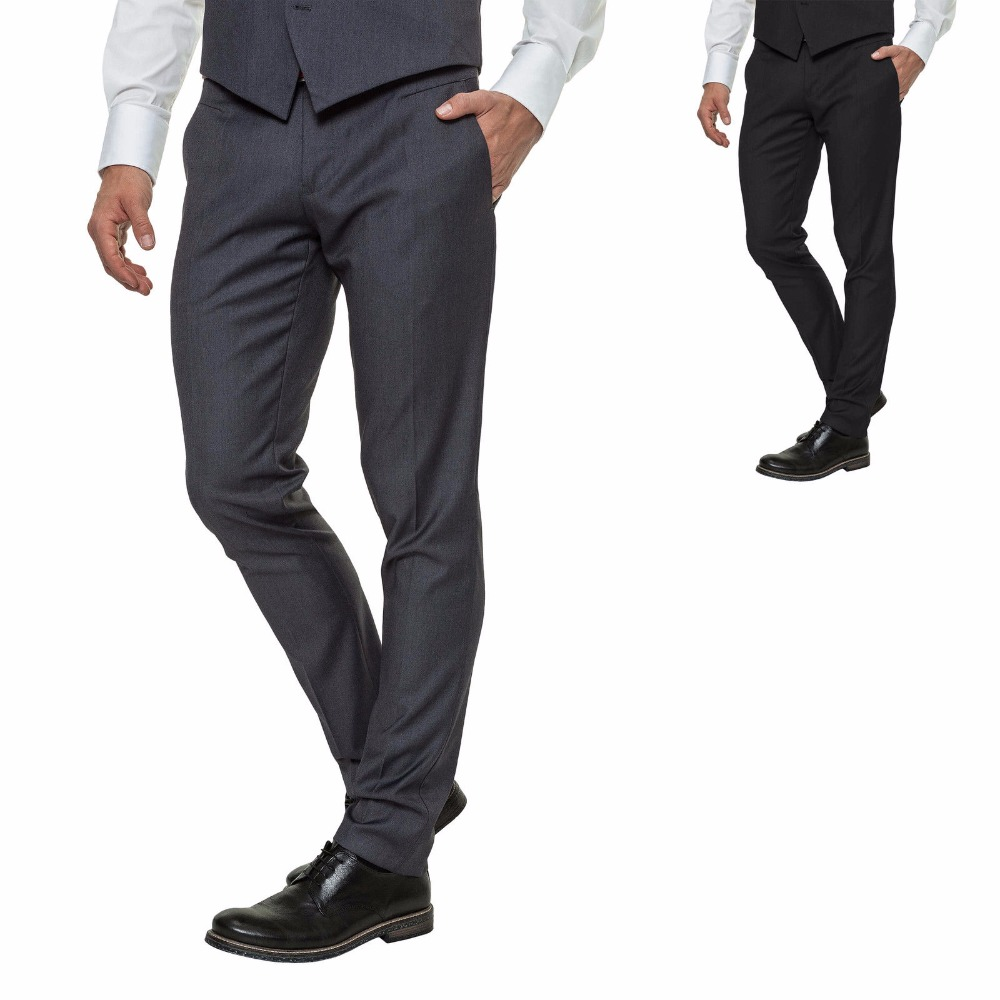 Custom Made New Style Men's Suit Trousers Pants Elegant Business Work Black Grey NEW Groom Men Suit Pants