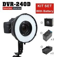 Falconeyes 5600 k Anel de Flash LEVOU Painel Dimmable Iluminação De Vídeo Foto Selfie Tiroteio DVR-240D + MV-AD1 (NP-F750A)