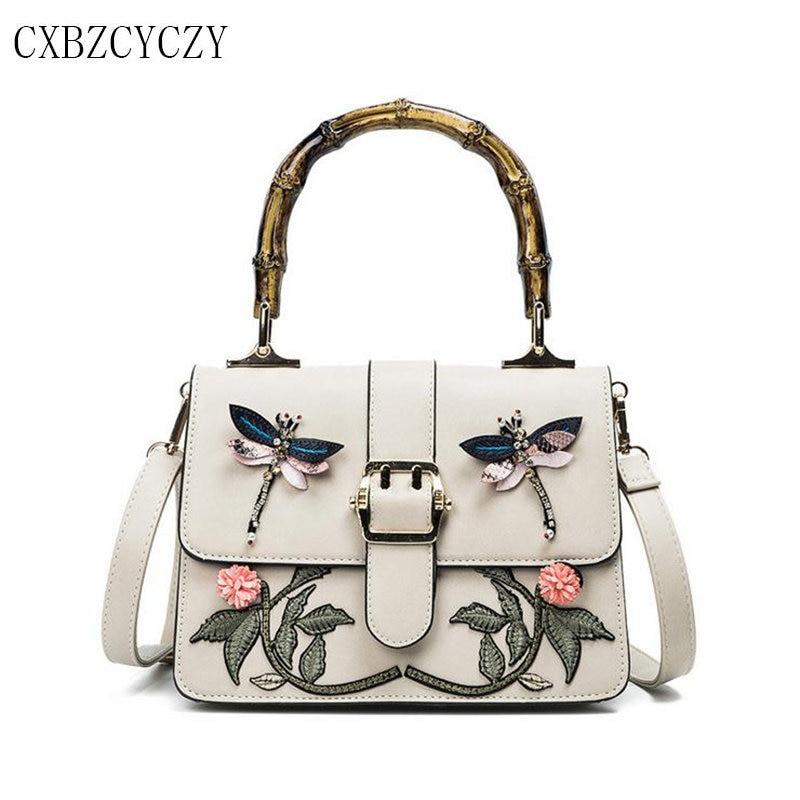 купить Luxury Handbags Women Bags Designer handbag Women Famous Brand Embroidery Flower Shoulder Bag Women Messenger Bags Dollar Price дешево