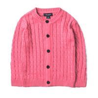 Filles printemps automne chandails enfants o-cou solide à manches longues cardigan bébé casual gris vert bleu rose orange vêtements enfants 2-7