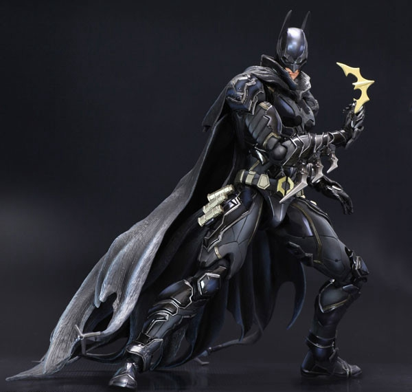 NO 1 Bat-man Figure Black Blue Edition Play Arts Kai Variant Play Art KAI PVC Action Figure Bat Man Bruce Wayne 25cm Doll Toys