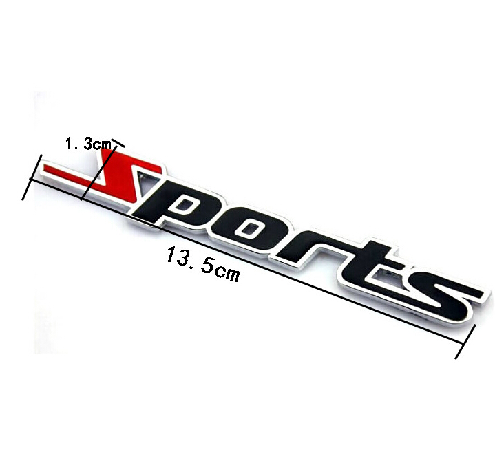 3d Sports Type Car Sticker Cover Emblem Badge Decal Styling For