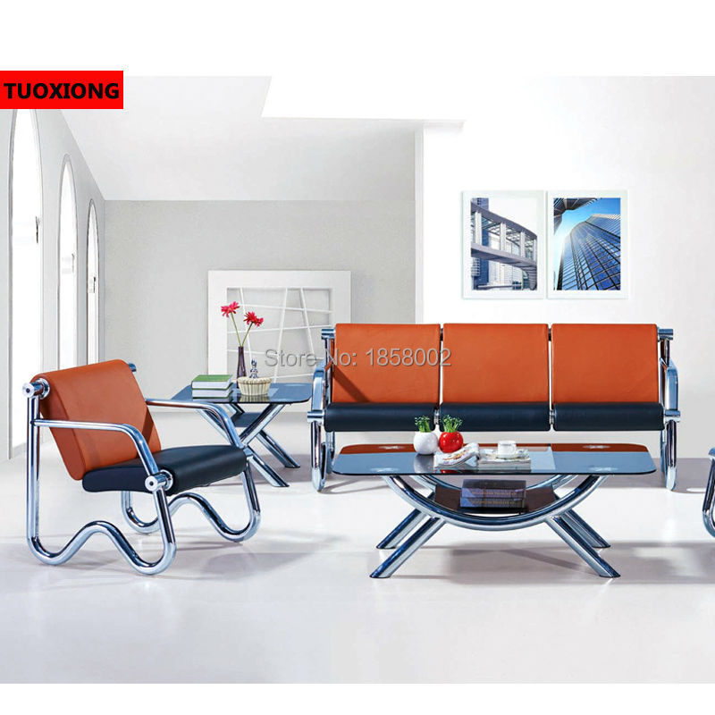 Commercial sofa simplified metal sofa chair Waiting area ...