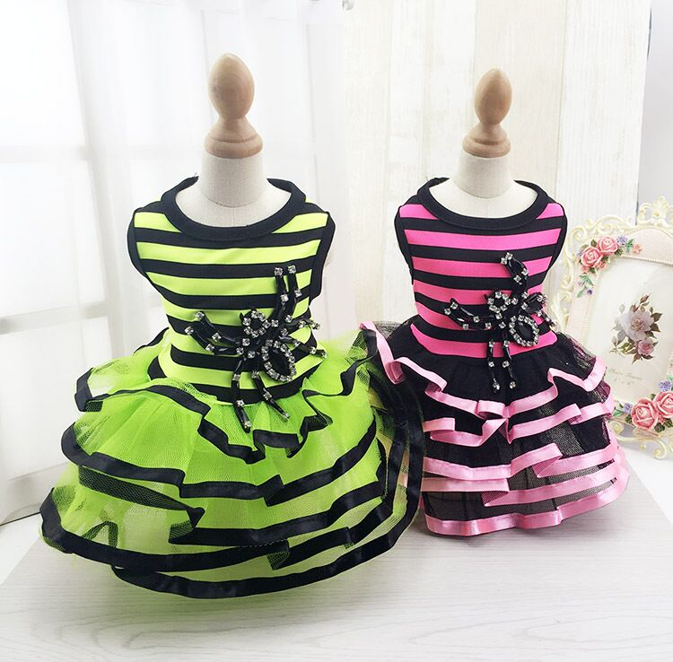 G42 Pet Summer skirt <font><b>Dress</b></font> Teddy Princess <font><b>Dog</b></font> <font><b>Dresses</b></font> Lovely <font><b>Dresses</b></font> For <font><b>Dogs</b></font> Pet Clothes XS S M L XL <font><b>XXL</b></font> image