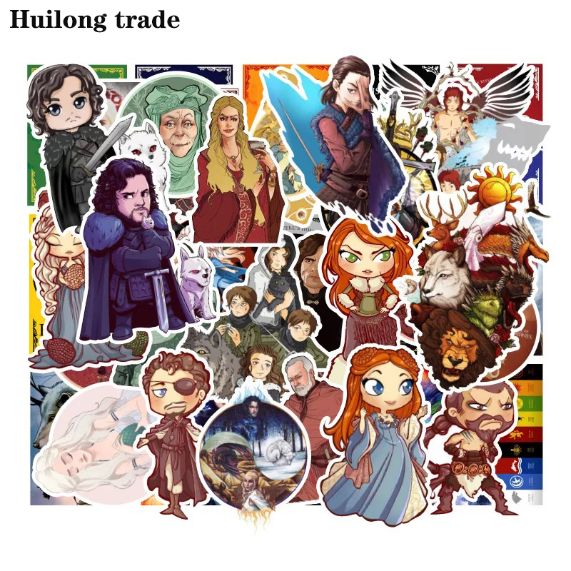 100 pcs Rights Game Cartoon Characters Waterproof sticker Graffiti sticker DIY Creative Collage Refrigerator Decorative sticker in Wall Stickers from Home Garden