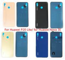 Gift+for Huawei P20 Lite Glass Battery Back Cover Housing Rear Door Case for Huawei Nova 3E/ P20Lite Repair Spare Parts(China)