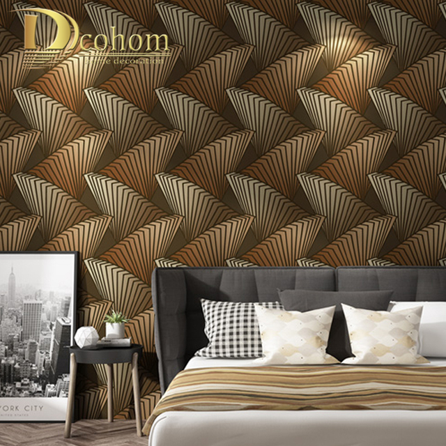 Dcohom Modern Geometric Pattern Designs 3D Wallpaper For Living Room Bedroom Background Walls Decor PVC Wall