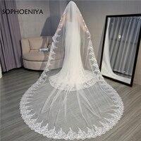 New Arrival Bridal veil 2019 Sluier voile mariage Wedding accessories velos de novia wedding veils Cheap ivory veil long veil