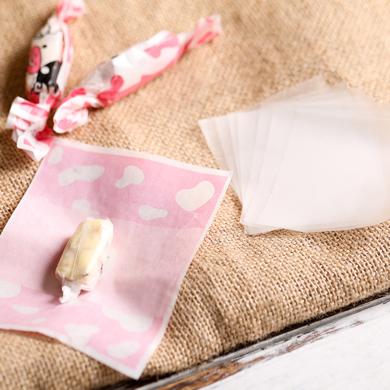 [4Y4A] 500pcs/set DIY Candy Handmade Nougat Paper Candy Packaging Glutinous Rice Paper Candy Paper Edible Sugar Paper