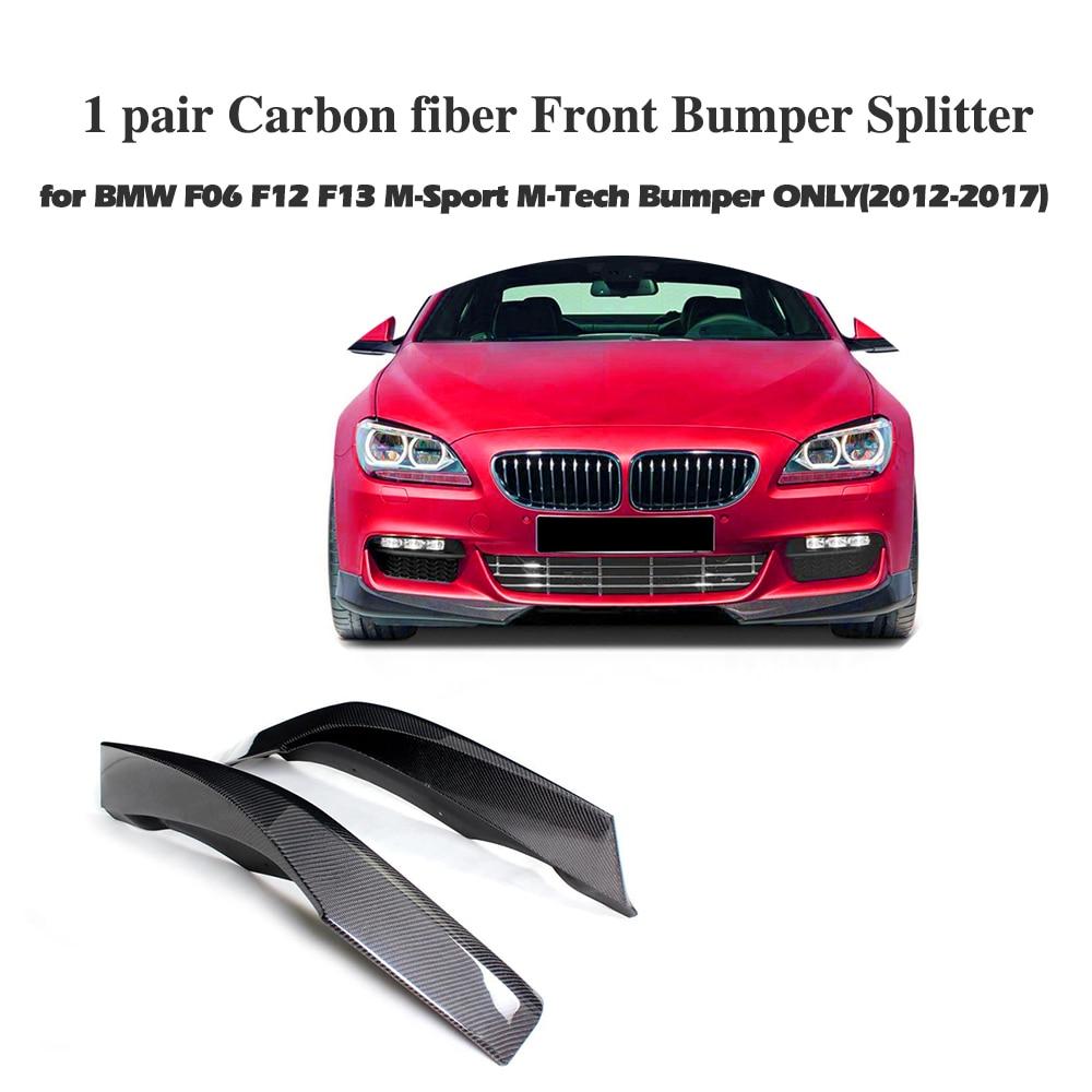 Voiture De Fiber De carbone pare-chocs Avant lip Splitter Pour BMW F06 F12 F13 M Sport 2012-2016 Convertible 650I Non m6