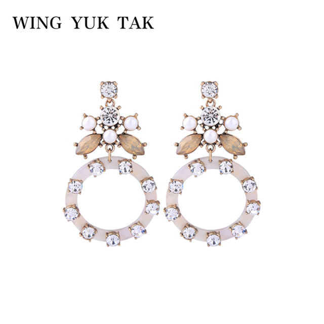 2018 New Crystal Hollow Round Drop Earrings For Women Romantic Charm Earrings Boucle D'oreille limited Edition Luxury Jewelry