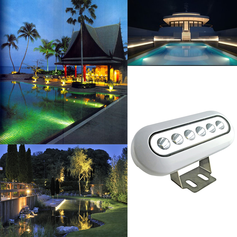 Stainless Steel DC12V Underwater Led Boat Lights IP68 Waterproof for Swimming Pool Ponds Fish Tank warm
