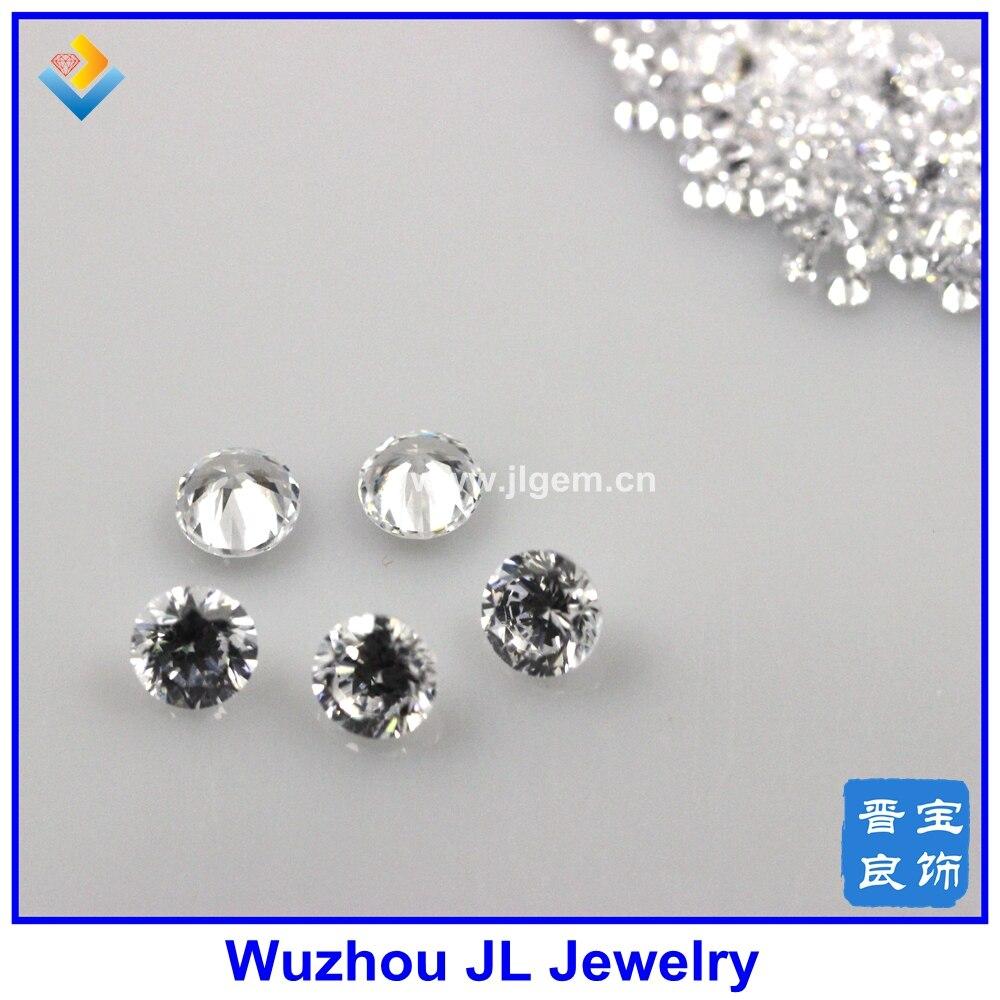 MOQ = 100 шт. 5.0 мм круглый белый камень cz кубический циркон свободные камень для моды cz ювелирных изделий